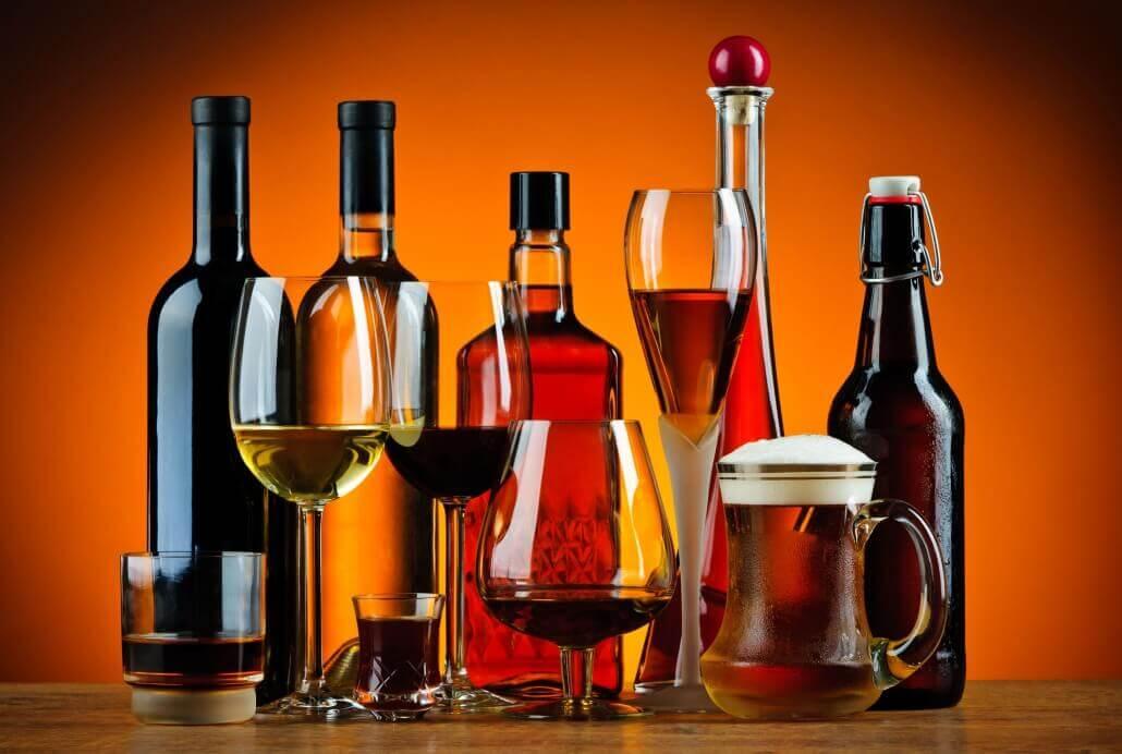 Alkohol und Öl