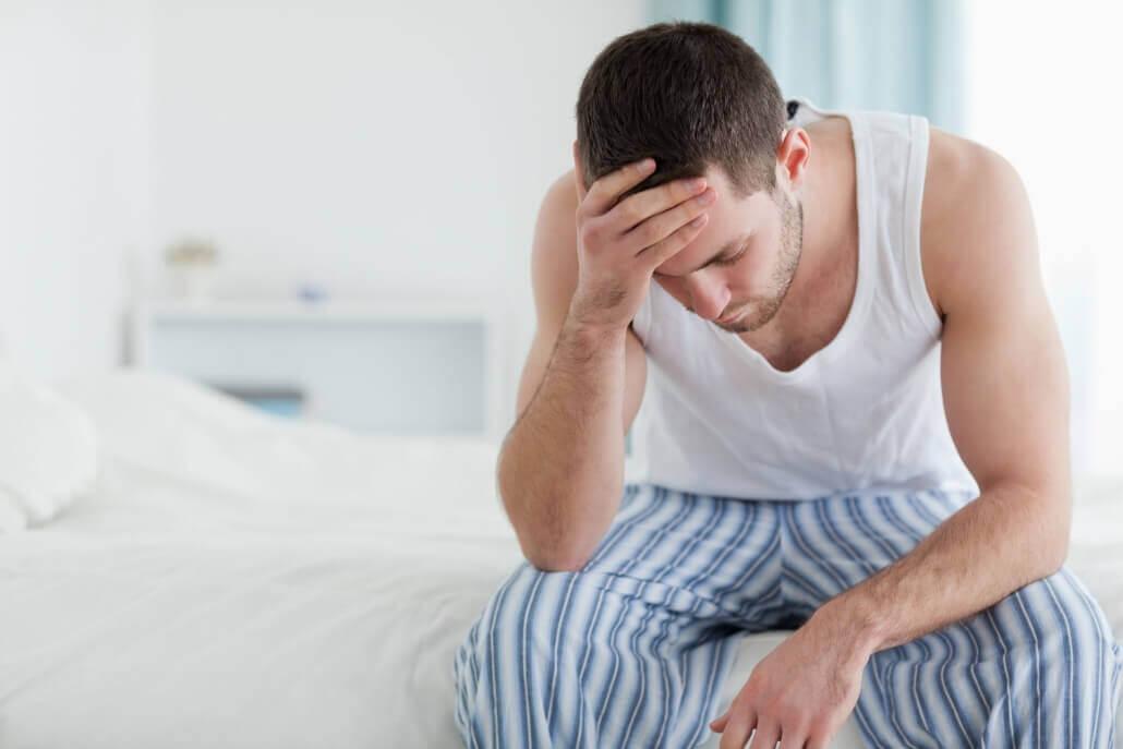 Mann mit Borreliose Erkrankung