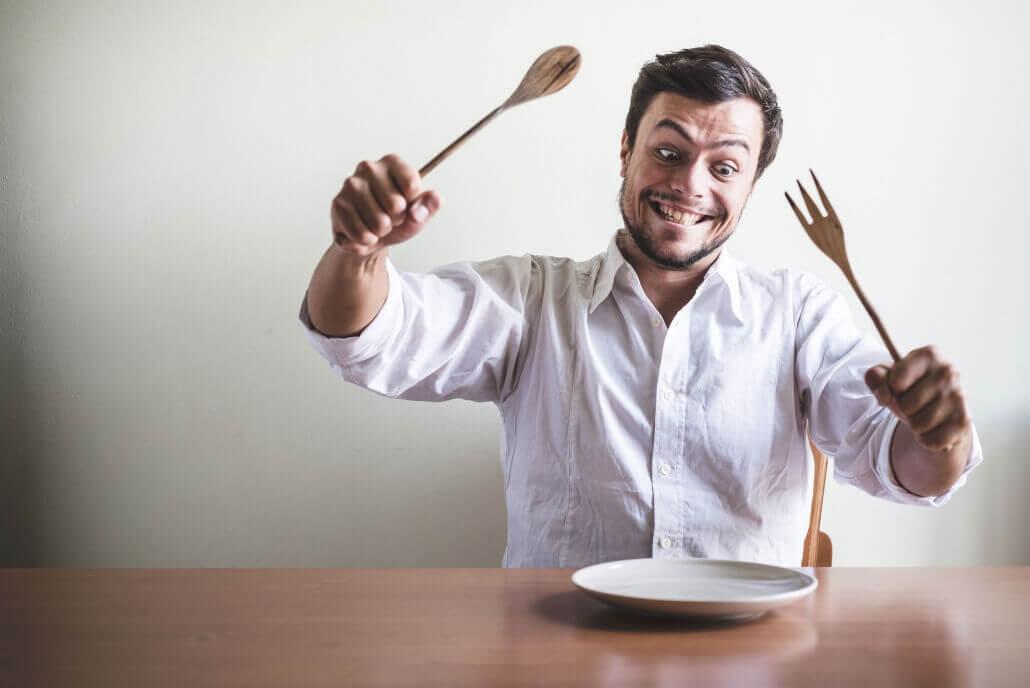 Mann ohne Essen